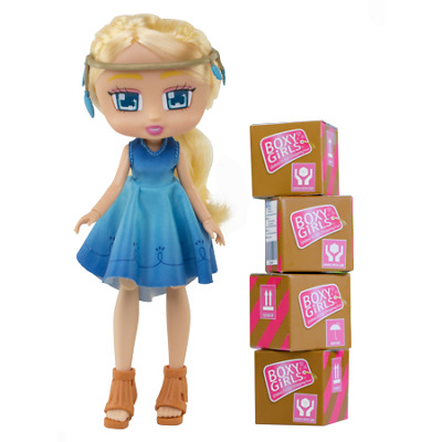 """Boxy Girls Willa 8"""" Doll with 4 Surprise Packages by jay@play NEW 2018"""