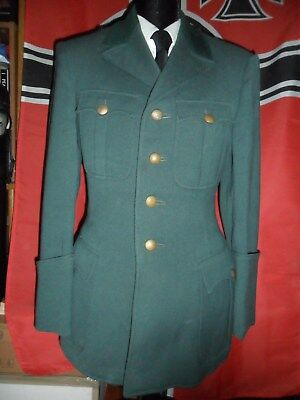 German Border Guard Tunic Like Wwii French Cuffs With Open Green Collar