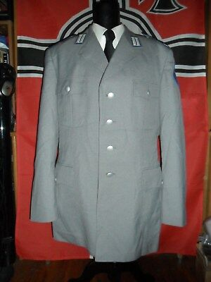 German Bundeswehr Army Tunic With Insignias And Open Collar Ex-Large Size