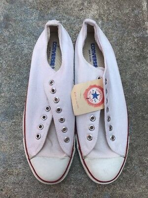 bc69b1ec7840b6 DEADSTOCK Vintage Converse Chuck Taylor Low Made in USA White 12.5 men s NOS