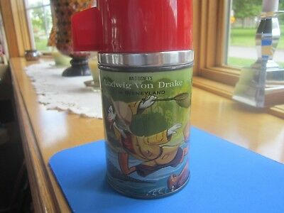 Disney Ludwig Von Drake 1962  Aladdin Lunch box Thermos Red OR White cup choice