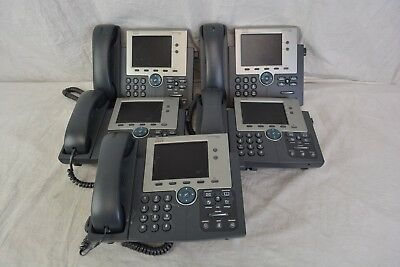 Cisco Ip Phone 7945 Series Telephones CP-7945G For Parts Lot of 5