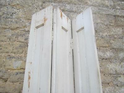 VINTAGE WOODEN FRENCH  PINE WALL  CLADDING SHUTTER Bi Folding ONE OFF 211cm TALL