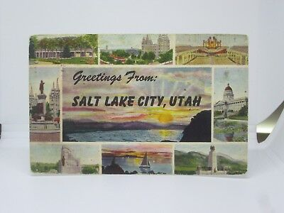 Vintage Postcard Greetings from Salt Lake City, Utah UT