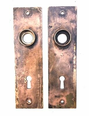 Vintage Copper Door Back Plates - Matching Pair/Set