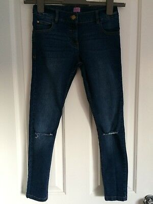 Blue skinny ripped jeans -  age 10-11