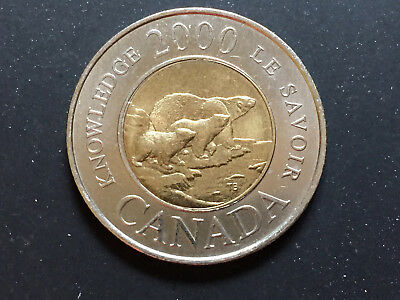 Canada Rare 2000 $2 Coin Bear With Cubs Taking Them To The Path Of Knowledge!