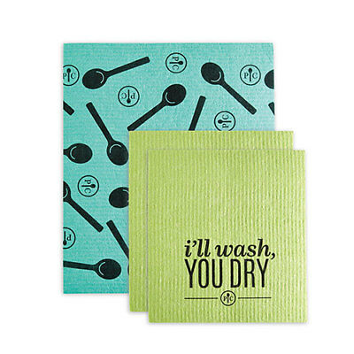 Eco-Friendly Reusable Cleaning Cloths Set (Pampered Chef #1496)