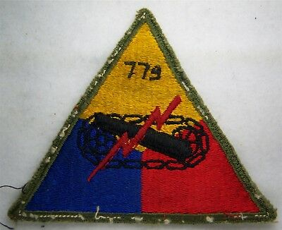 Original:   WW2  779 Tank Bn patch with theater added numbers