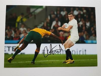 George FORD signed in-person England Rugby 8x12 Photo AFTAL Dealer 135