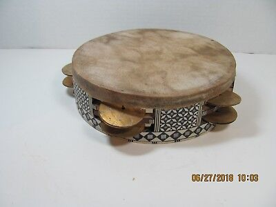 Antique Beautifully Handmade & Unusual African Tambourine
