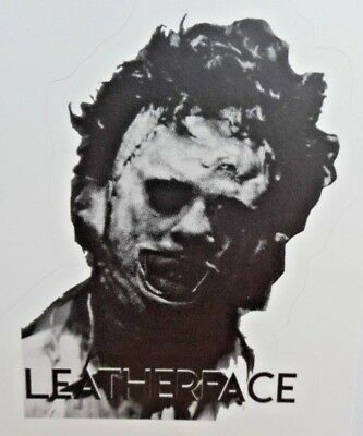 Texas Chainsaw Massacre  Leatherface Classic Black And White Sticker/Decal  New