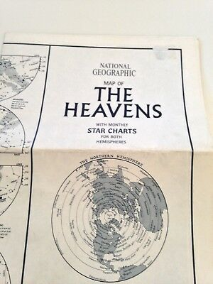 NATIONAL GEOGRAPHIC MAP of the HEAVENS with monthly STAR CHARTS