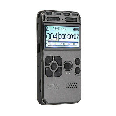 Rechargeable 64GB Digital Audio/Sound/Voice Recorder Dictaphone MP3 Player US