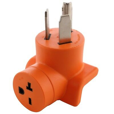 3-Prong Dryer Outlet Adapter NEMA 10-30P to NEMA 6-20R by AC WORKS™