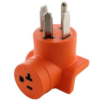 30 Amp NEMA 14-30P to 20 Amp NEMA 5-20R Dryer Outlet Adapter by AC WORKS™