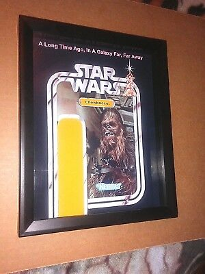 """STAR WARS Chewbacca 8""""x10"""" Shadow Box for 3.75"""" Chewbacca Action Figures"""
