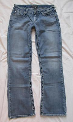 B1 Silver Jeans Aiko Bootcut 31/33 12x33 stretch distressed denim jeans low rise