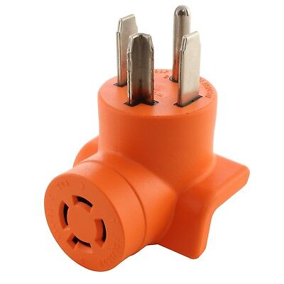 4-Prong Dryer Outlet Adapter NEMA 14-30P to NEMA L14-20R  by AC WORKS™