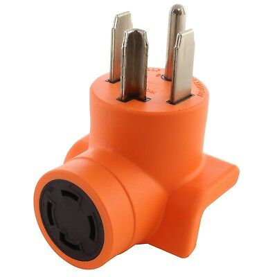 4-Prong Dryer Outlet Adapter NEMA 14-30P to NEMA L14-30R by AC WORKS™