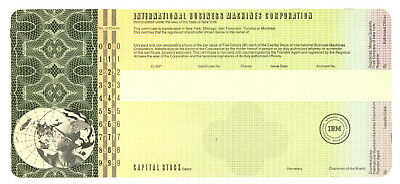 International Business Machines Corporation. Capital Stock Certificate. IBM