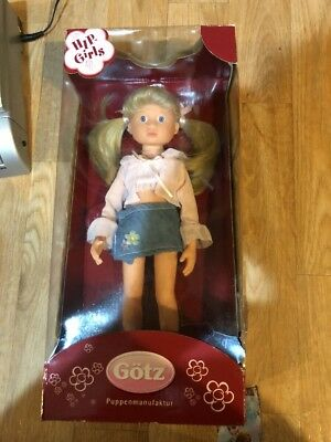 "Gotz ""Hip Girl"" Doll Brianna 14"" Pink Blouse And Blue Mini Skirt New"