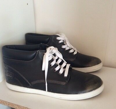 Timberland Distressed Black Leather Sneakers Women's Sz. 11