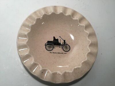 Vintage Ashtray, Royal China Inc., 1st Packard Automobile, 1899 Made in USA