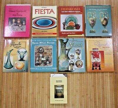 Lot of 9 Pottery Books Price Guides Reference Dealer Seller Resale Collection