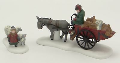 Dept 56 Dickens Village ~ Bringing Fleeces To The Mill ~ Mint In Box 58190
