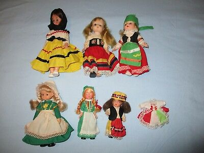 Madame Alexander Lot of 6 Dolls + extra dress 5-8inches