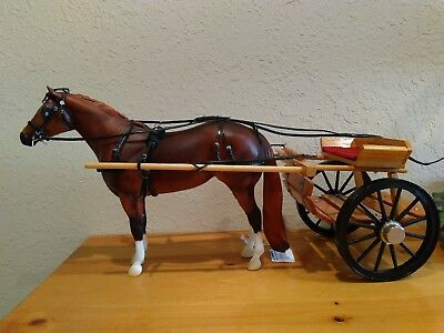cart and harness for traditional scale breyer(Horse not included)