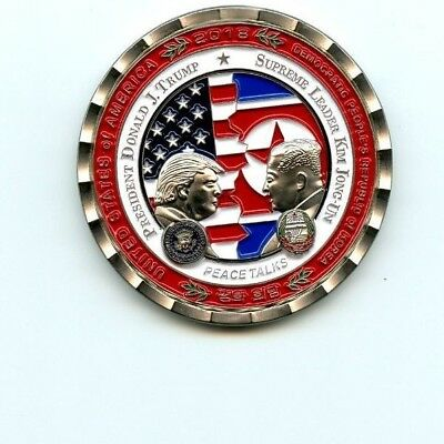 Donald Trump Kim Jung Un Peace Talks Summit Coin In Hand Ready To Ship