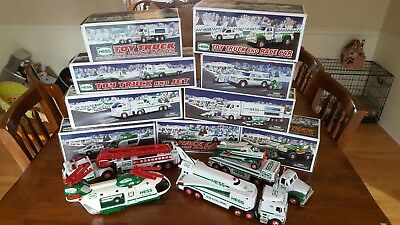 Huge Hess Truck Lot 1999-2012 Several Brand new in box!!