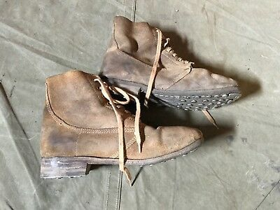 61i WWI US M1917 TRENCH BOOTS- SIZE 10