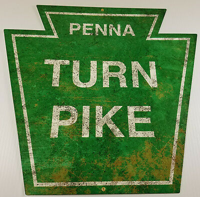 Penna Turn Pike Pennsylvania Pa Turnpike Roadway Highway Heavy Duty Metal Sign