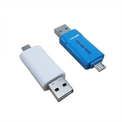 2-In-1 Micro USB2.0 OTG Adapter+Micro SD TF Card Reader For Android CellPhone PC