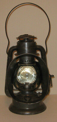 Antique vtg DIETZ IDEAL INSPECTOR LAMP LITTLE WIZARD kerosene oil lantern RR
