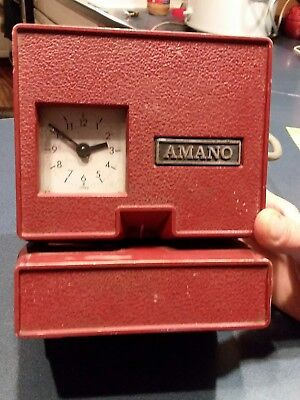 Vintage Used Amano 3700 Electric Time Card Punch Clock *No key*