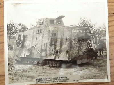 WW1 Captured German A7V Tank Autographed By French And British Soldiers