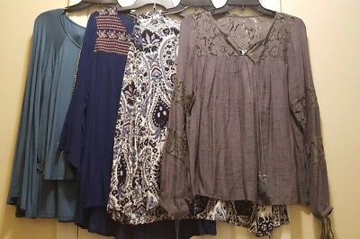 LOT of 4 WOMEN'S NEW TOPS BLOUSES  BOUTIQUE CLOSE OUT Size M