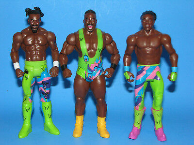 Lot Of (3) WWE Mattel Basic Figures KOFI KINGSTON XAVIER WOODS BIG E THE NEW DAY