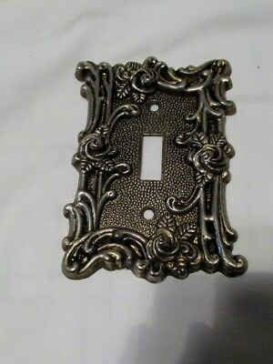 Vintage Metal Light Switch Plate Cover Amer Tack & Hdwe 1967 60T
