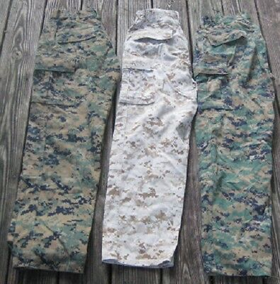 3 Marine Corps MARPAT Digital Camouflage Uniform Trousers Small Regular USMC NR!