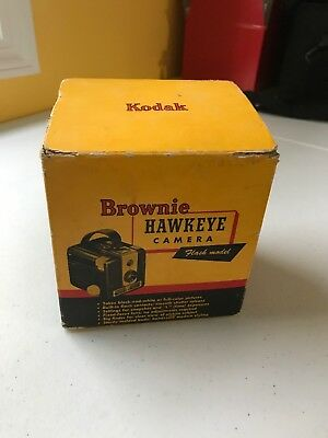 Vintage Kodak Brownie Hawkeye Camera Flash Model Black