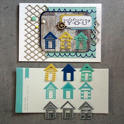 Kaisercraft Beach Houses Cutting Dies 3 Pce Dd197 Fits Cuttlebug Sizzix