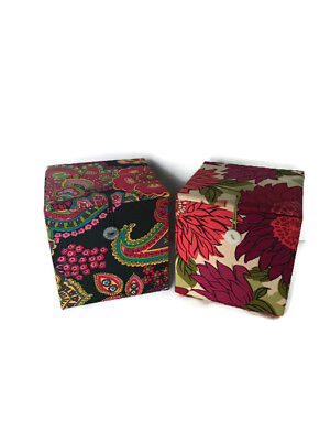 VERA BRADLEY 2 Empty Ornament/Keepsake Boxes Hello Dahlia! and Symphony in Hue