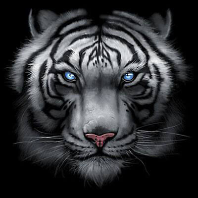 White Tiger Big In Your Face Design Majestic Animal T-Shirt Tee
