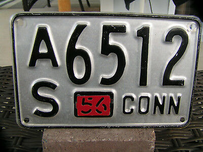 1956 Connecticut License Plate