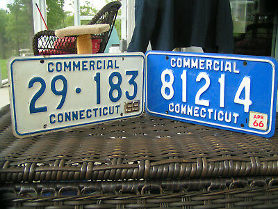 Connecticut Early Commercial License Plates